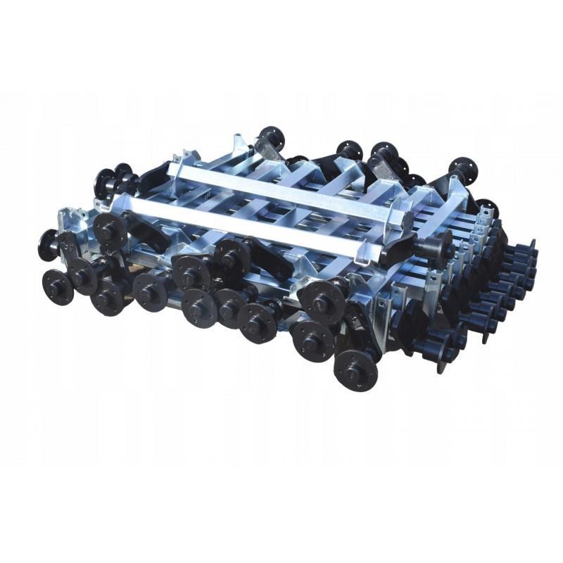 Oś niehamowana skrętna 750 KNOTT osie 1400mm AL-KO A0625