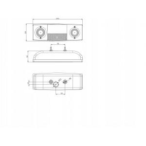 Oświetlenie do przyczepy ROLNICZEJ zestaw LAMP CPZ A0653