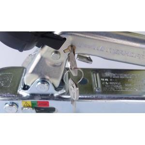 ZACZEP KULOWY 800kg KWADRAT 60mm Z ATESTEM HAK DO PRZYCZEP LEKKICH ORYGINALNY NIEMIECKI A0184