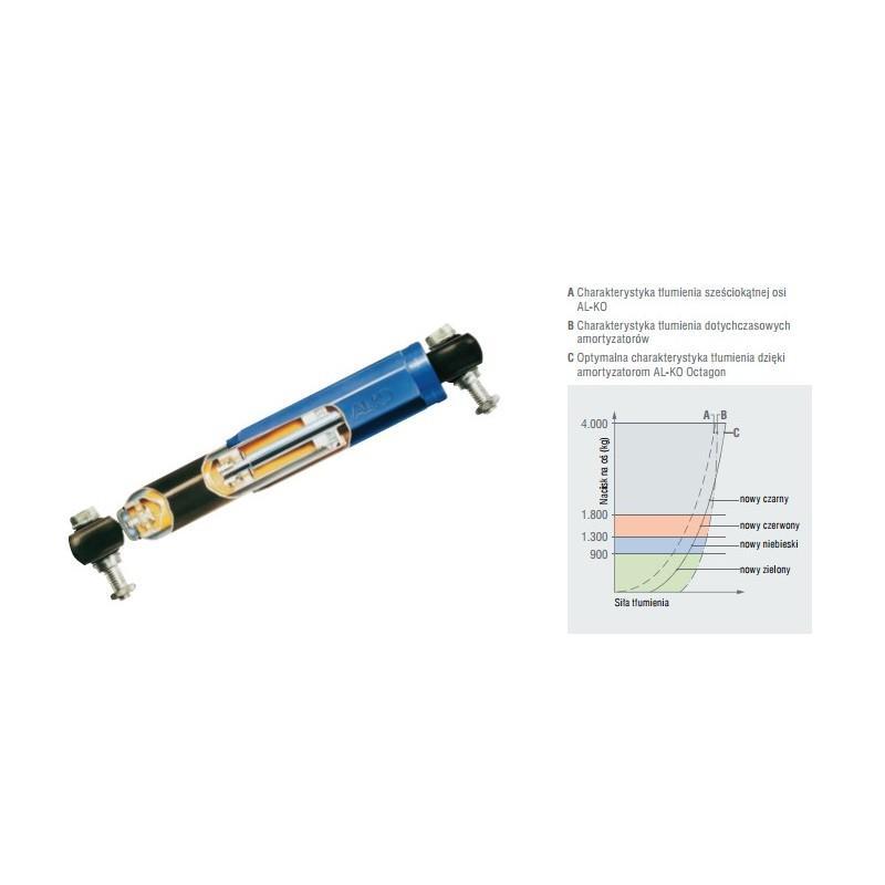 Amortyzator osi przyczepy OCTAGON 1350 -2700kg AL-KO LAWET A0690