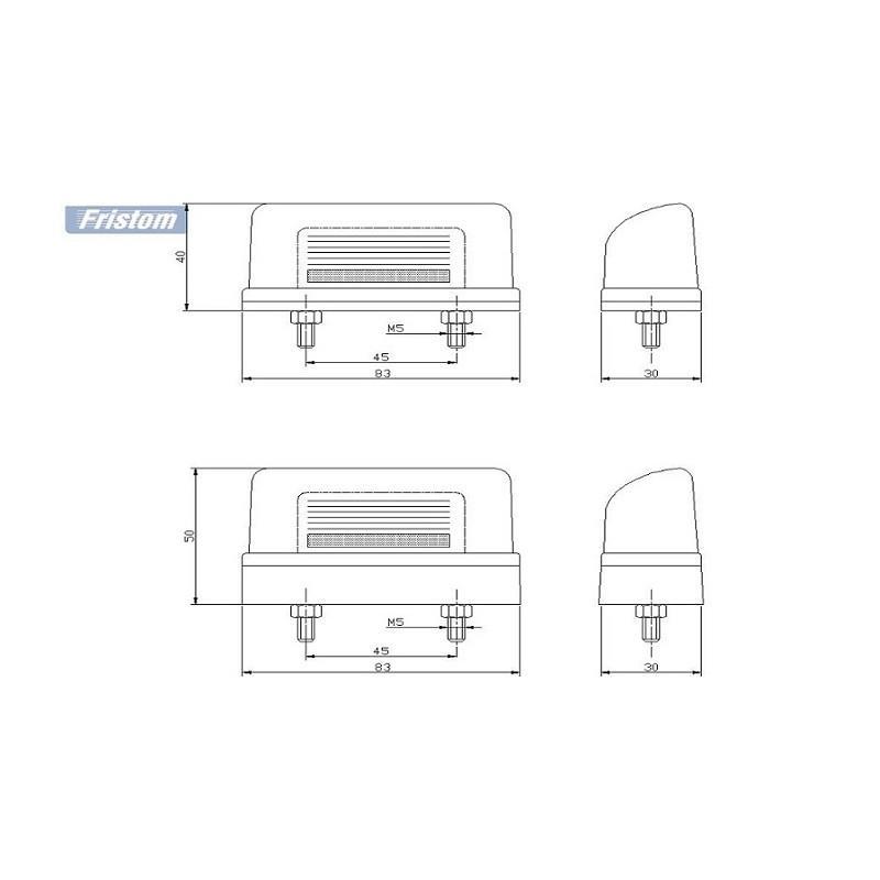 Lampa podświetlenia tablicy rejestracyjnej FT-22 P A708