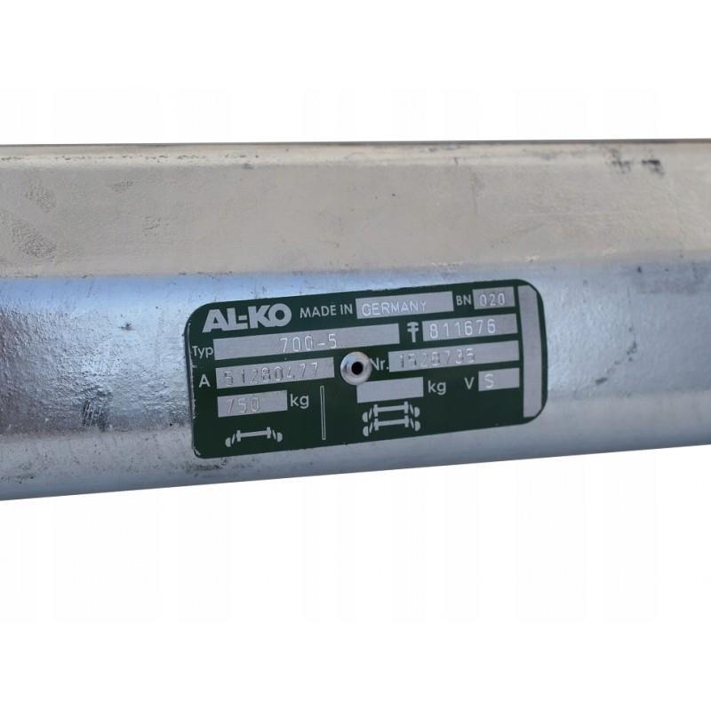 Oś niehamowana do przyczepki AL-KO 1300 mm 750 kg A733