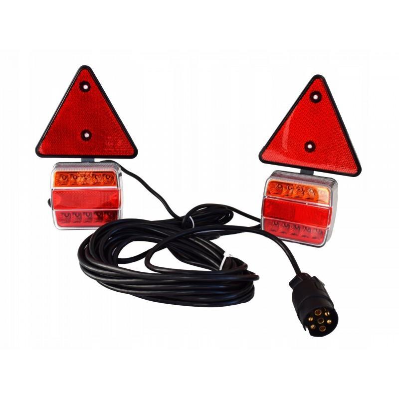 Zestaw świateł lamp do przyczepy Led 12V na magnes A0788