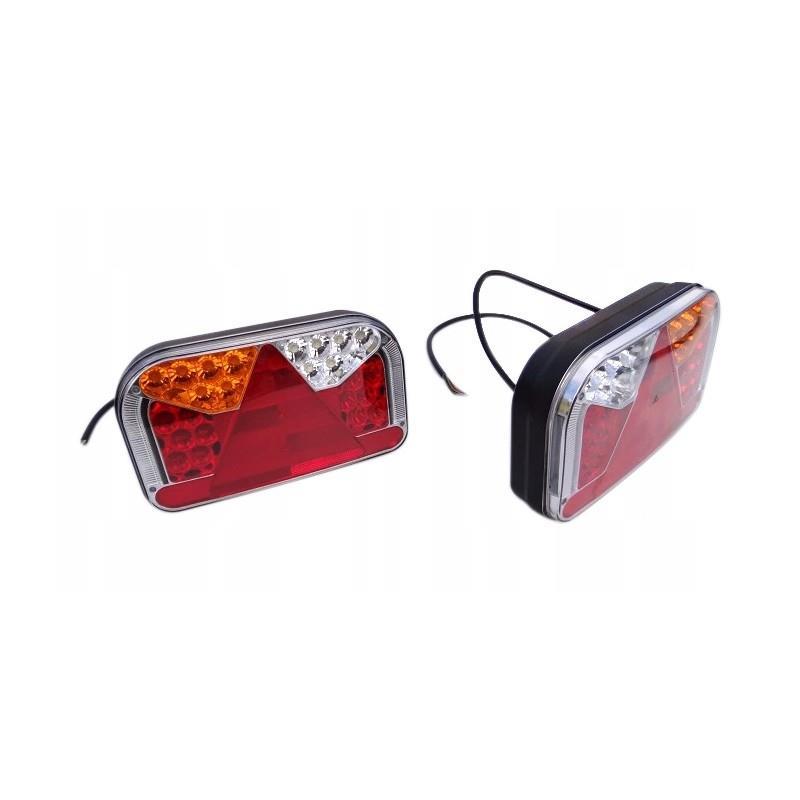 LAMPA ZESPOLONA PRZYCZEPY FT-170 L TB LED Lampa tylna uniwersalna 12-36V, 7- funkcyjna  lewa z bocznym ośw. tab A0748