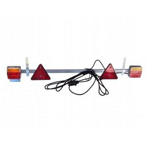 LAMPY TYLNE LED NA BELCE ZESTAW 12-24V PRZYCZEPY 18- LED (REGULOWANA) na belce + przewód 7,5m z wtyczką A0792