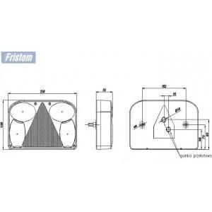 LAMPY LAMPA ZESTAW OŚWIETLENIA DO PRZYCZEP LAWET Zestaw oświetlenia nr 5 - FT 088 ROZŁOŻONY 7 pin A0795