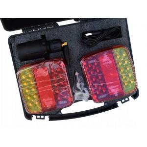 Zestaw świateł bezprzewodowy 18 LED, na magnes w walizce A0803