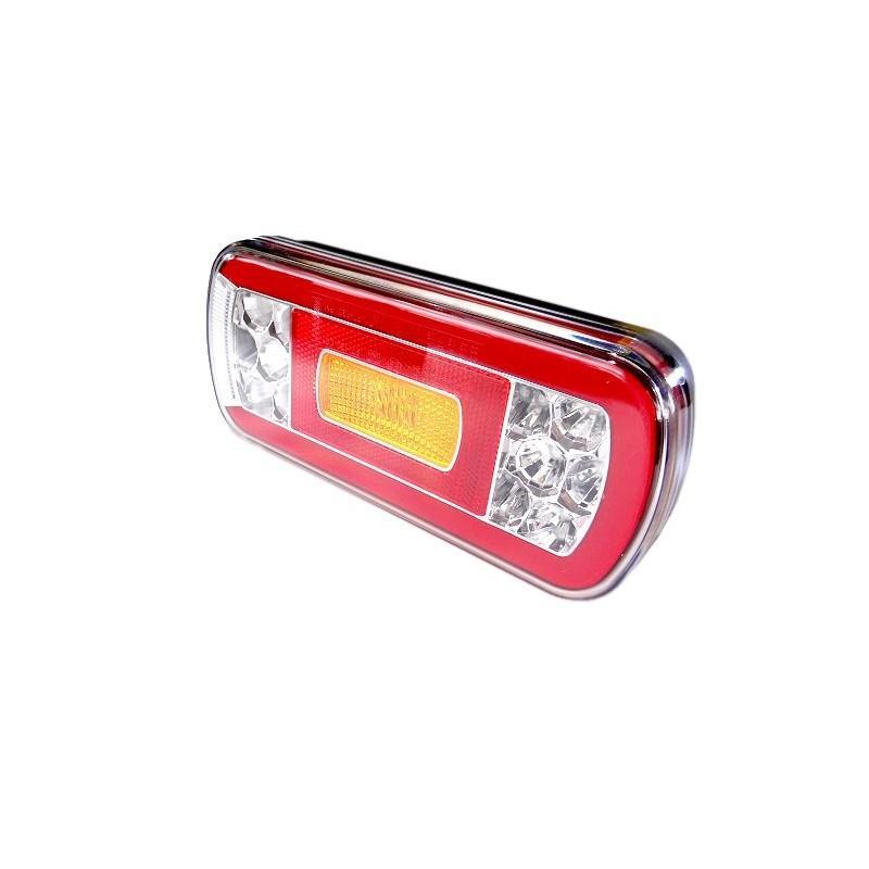 LAMPA ZESPOLONA TYLNA PRZYCZEPY LED 12/24V LAWET FT-130 PM LED BAJONET Lampa tylna uniwersalna LED 12-36V, 6-funkcyjna A0318