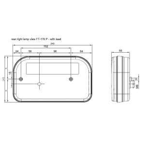 LAMPA ZESPOLONA LED LAWETA BUS FT-170 12-24V LEWA FRISTOM 12/24 V HERMETYCZNA A0333