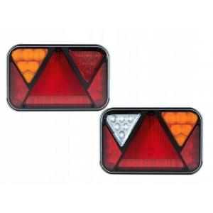 .FT-270 P TB LED COF BAJONET 5 PIN Lampa tylna uniwersalna prawa z trójkątem odblaskowym LED 12V, 6-funkcyjna A0863