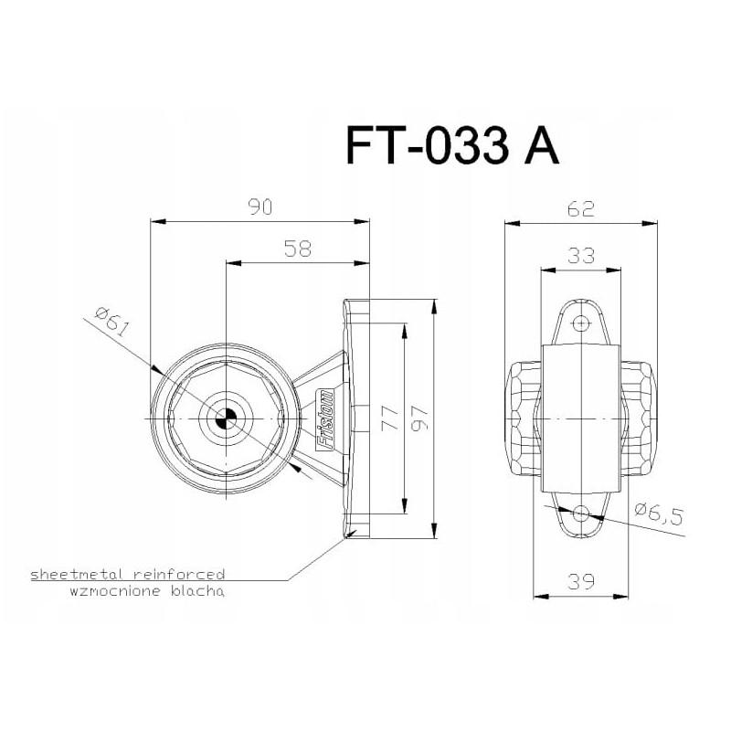 Lampa Obrysowa tylna Obrysówka Obrysówki FT-033A A0874
