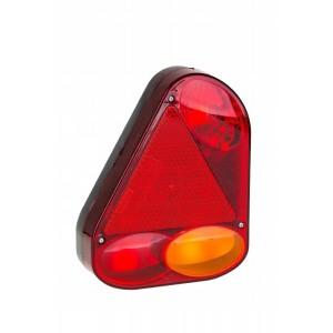 LAMPA NAROŻNA TYŁ KOMPLETNA PRZYCZEPA LPM FT-77 Lampa tylna narożna lewa z trójkątem...