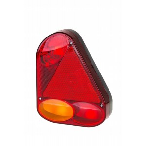 LAMPA NAROŻNA PRAWA KOMPLETNA PRZYCZEPKI Lampa tylna narożna prawa z trójkątem...