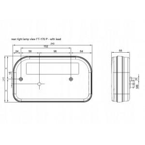 LAMPA Fristom FT-170 LEWA LED BAJONET 12-36V TYLNA SPKPM BAJONET 5PIN Lampa tylna uniwersalna LED 12-36V, 5-funkcyjna A0885