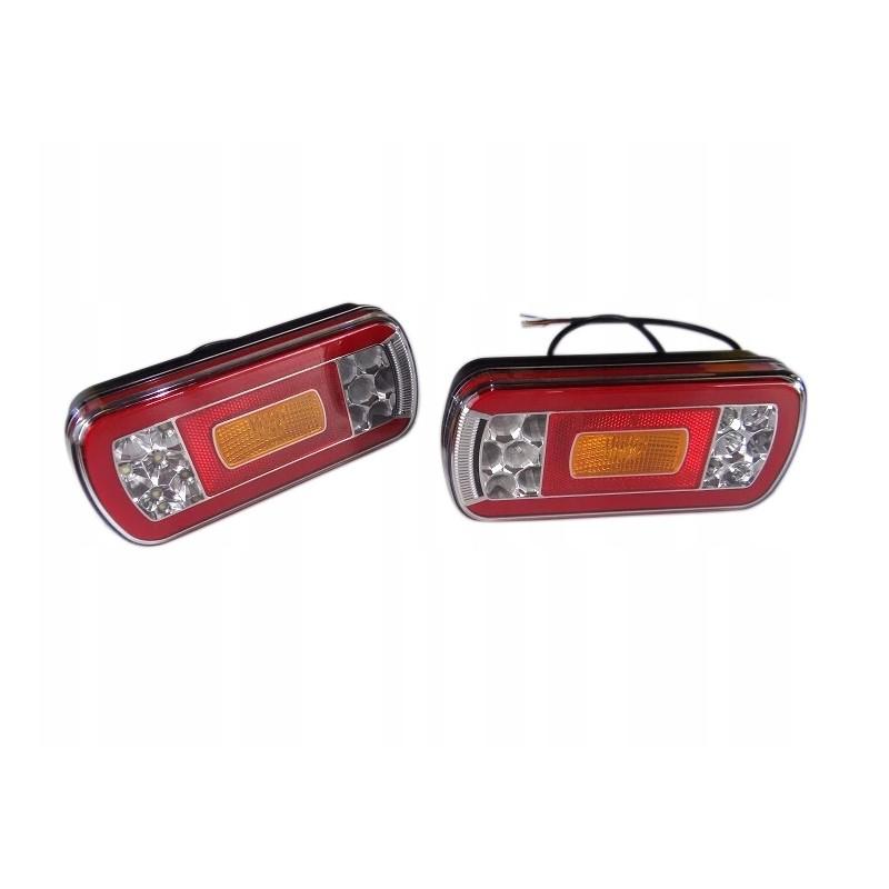LAMPA HERMETYCZNA LEDOWA LAWETY 12/36V DIODOWA 6F Lampa tylna uniwersalna LED 12-36V, 6-funkcyjna A0888