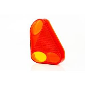 Klosz FT-077 KPPM lampy tylnej narożnej prawej z trójkątem odblaskowymi i światłem...
