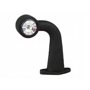 LAMPA OBRYSOWA GUMOWYM NA  RAMIENIU LAMPY OBRYSOWE LED 12-24V FT-009F Lampa obrysowa LED łamana długa PRAWA A0768