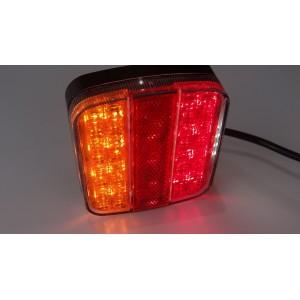LAMPA LED ZESPOLONA DIODOWA TYLNA LAMPY PRZYCZEPY LAWETY HERMETYCZNA 12-24 V A0200