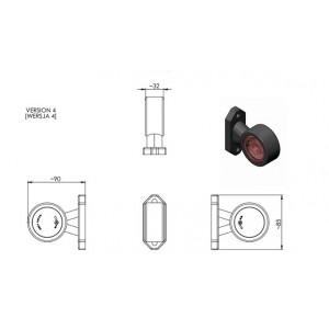 LAMPA PRZEDNIO-TYLNA OBRYSOWA OBRYSÓWKI LED LAWETA MOCNA A0161