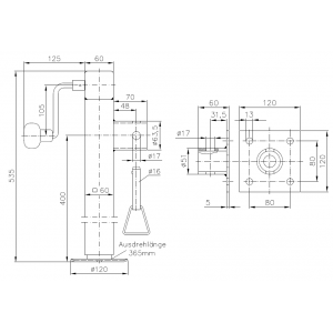 Podpora wjazdowa WINTERHOFF najmocniejsza krótsza przyczepy lawety A0339