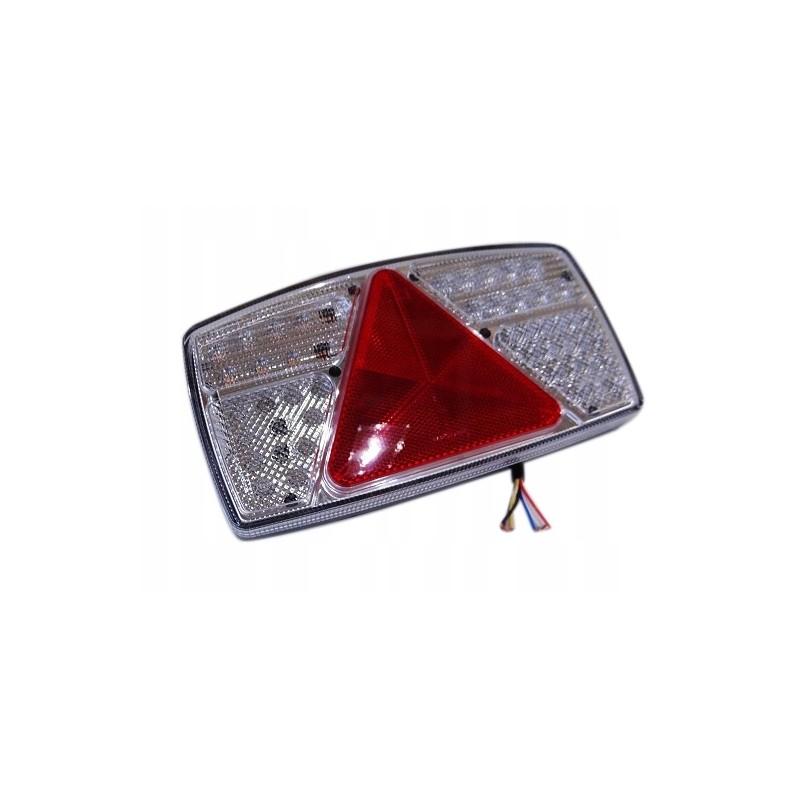 KOMPLET LAMP LEDOWYCH PRAWA + LEWA LAMPY ZESPOLONE DIODOWE PRZYCZEPY LAWETY LAMPA LED