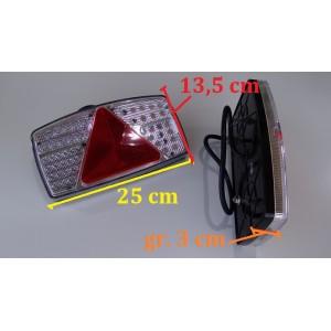 KOMPLET LAMP LEDOWYCH PRAWA + LEWA LAMPY ZESPOLONE DIODOWE PRZYCZEPY LAWETY A0341