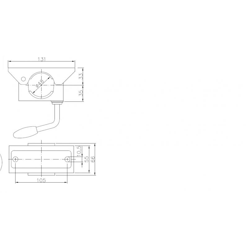 OBEJMA KOŁA KÓŁKA PODPOROWEGO MANEWROWEGO 48mm WZM A0398
