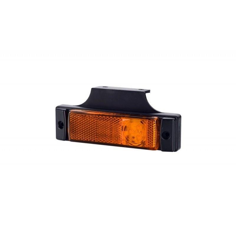 Lampa obrysowa boczna z wieszakiem LD128 LED LAMPA OBRYSOWA POMARAŃCZOWA BOCZNA LAWETY 12/24V pomarańczowa horpol A665