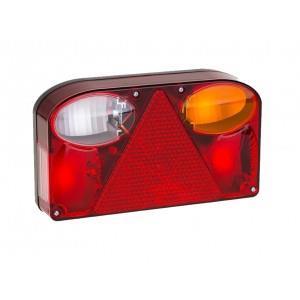 LAMPA ZESPOLONA FT-088 LPM BAJONET Lampa tylna,  lewa z trójkątem odblaskowym i światłem przeciwmgłowym A0186