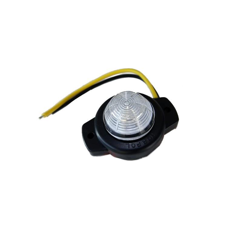 Lampa obrysowa diodowa LED biała przednia 12/24V A682
