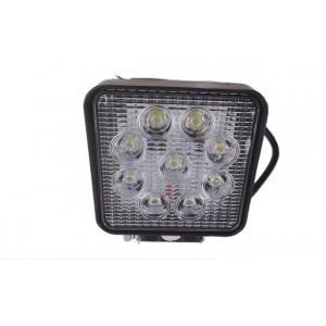 LAMPA LED HALOGEN ROBOCZY 27 W 12-24V DIODOWA KWADRATOWA MOCNA POMOCNICZA NOWA 9 LED
