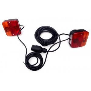 ZESTAW LAMP PRZYCZEPY KOMPLET MAGNESY LAMPA x2 WYPRZEDAŻ MOCNY UNIWERSALNE DO BURTY